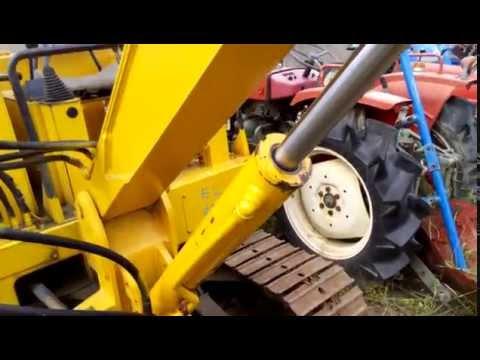 Test drive japanese excavator Mitsubishi MS035 японский экскаватор