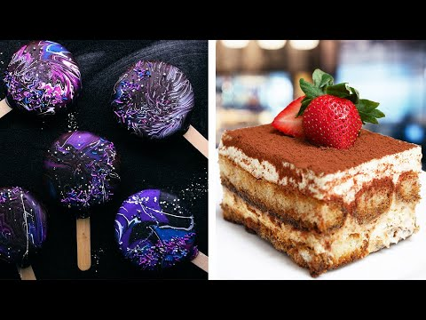 Galaxy Ice Cream Pops & Yummy Tiramisu Cake Recipe | Cake Decoration & Dessert Ideas by So Yummy
