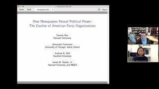 "Pamela Ban, ""How Newspapers Reveal Political Power: The Decline of American Party Organizations"""