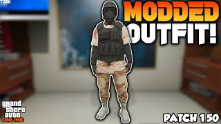 *NEW* How To Get A Tryhard Camo Joggers Modded Outfit With CEO Vest/Armor 1.50! (GTA 5 Online)
