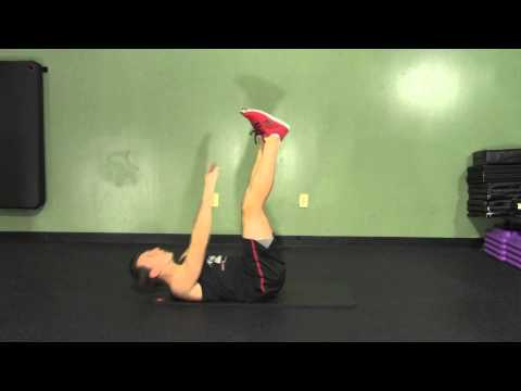 Lying Toe Touch Crunch - HASfit Abdominal Exercises - Ab Exercises - Abs Exercise