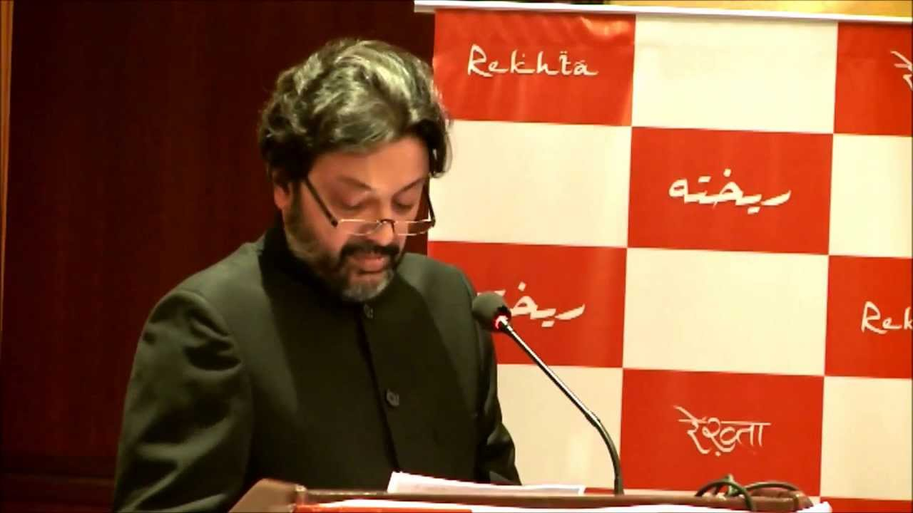 Sanjiv Saraf speaking at 1st Anniv. function of Rekhta, website for Urdu poetry