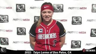 2022 Talyn Lerma Catcher Softball Skills Video - Firecrackers