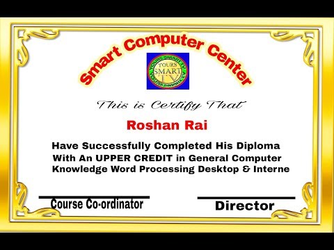 How to make any kind of certificate on mobile/how to design ...