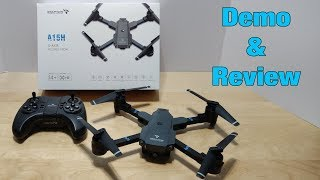 Snaptain A15 Foldable FPV WiFi Drone - Demo & Review