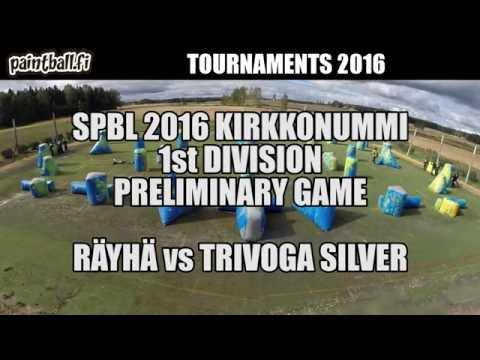 Räyhä vs Trivoga Silver - SPBL2016 Kirkkonummi