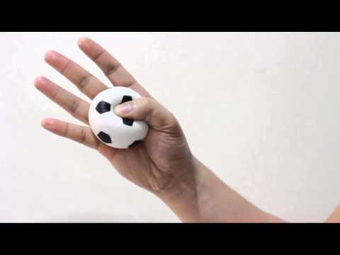 Screenshot of video: Therapy Ball Hand & Wrist Exercises Demonstration