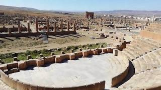 preview picture of video 'Ancient Roman theater in Timgad'