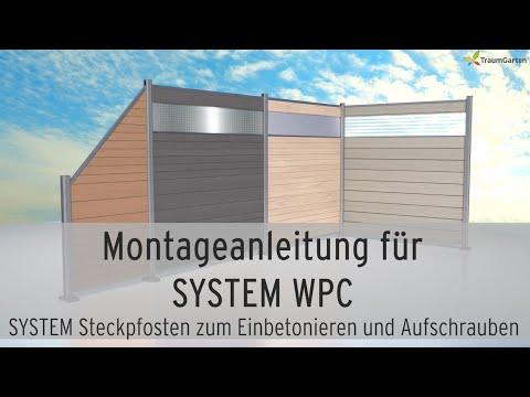 WPC Sichtschutz montieren - SYSTEM WPC von TraumGarten - Steckzaun aufbauen