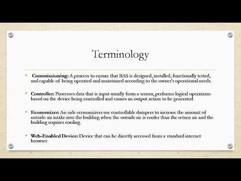 Building Automation Systems Lesson 1 - BAS 101 training system ...