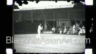 Rare Black And White Film Of Henri Cochet--famous French Tennis Player