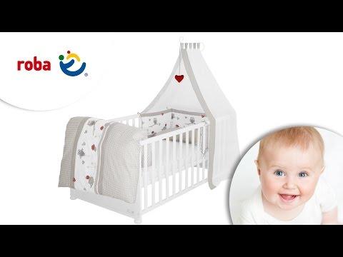 roba Komplettangebot Kombi-Kinderbett Lukas + Zubehör, weiß lackiert