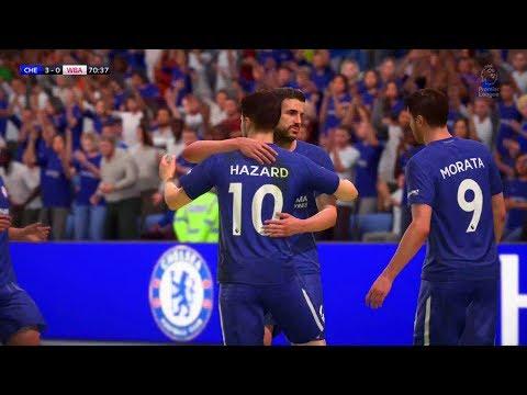 Chelsea 3-0 West Brom Eden Hazard 2nd Goal (FIFA 18 Remake)