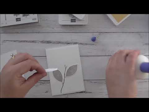 Stampin Up! Rooted in Nature Leaf Card