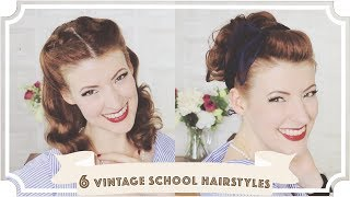 6 Easy Vintage 1950s Back To School Hairstyles [CC]