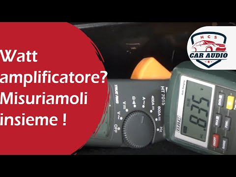 Come misurare i watt dell'amplificatore?