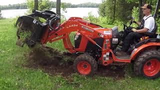 #43 Kubota B2601 Compact Tractor Root Rake or Rock Rake ?