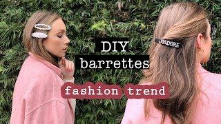 TREND: DIY HAIR BARRETTES (easy & Chic) // Hair Accessories Tutorial   XO, MaCenna