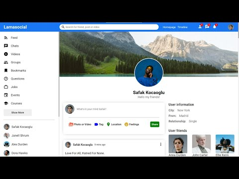 React Social Media App Design Tutorial   React.js UI Course Full