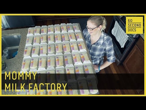 Mommy Milk Factory | Breast Milk Donor //  60 Second Docs