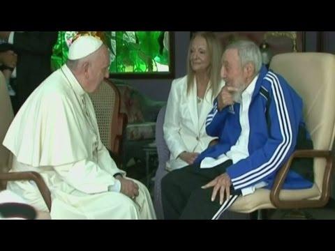 , title : 'Pope meets Fidel Castro in Cuba'