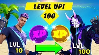 HOW TO LEVEL UP FAST TO LEVEL 100! XP Glitch, ALL XP Coins Location & Tips (Fortnite Season 3)