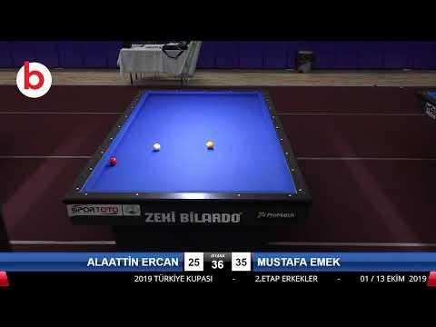 ALAATTİN ERCAN & MUSTAFA EMEK Bilardo Maçı - 2019 VETERANLAR 2.ETAP-V FİNAL 1/16