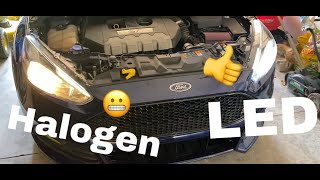 Installing LED headlights and footwell lights on Ford Focus ST
