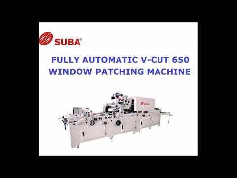 V-Cut Window Patching Machine