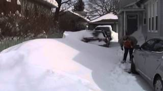 preview picture of video 'Snow storm Nemo in Worcester, MA - aftermath'