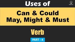 Verb: Use of Can, Could, May, Might & Must  for All competitive Exams [In Hindi] Part 4