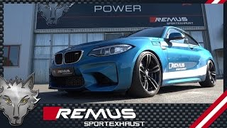 BMW M2 F87 with REMUS cat-back system