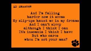 Ed Sheeran - Insomniac's Lullaby (lyrics)