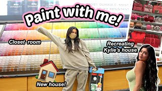 RECREATING KYLIE JENNER'S CLOSET ROOM! Paint the house with me!