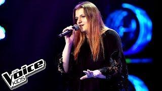 """Wiktoria Granas – """"Set Fire To The Rain"""" – Przesłuchania w ciemno – The Voice Kids Poland"""