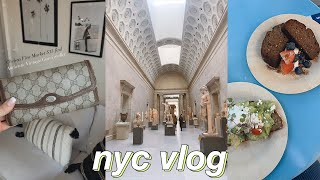 nyc vlog | day in my life - visiting the met museum, grocery haul, & flea market