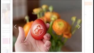 Как создать картинку с изображением друзей на пасхальном яйце