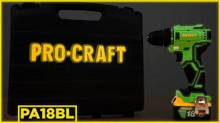 Бесщеточный аккумуляторный шуруповерт Procraft PA18BL
