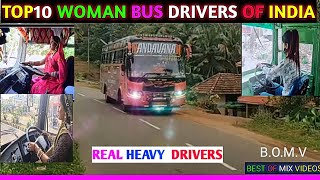 TOP 10 WOMAN BUS DRIVERS OF INDIA _HEAVY FEMALE DRIVERS - DRIVER