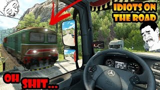 ★ IDIOTS on the road #37 - ETS2MP | Funny moments - Euro Truck Simulator 2 Multiplayer