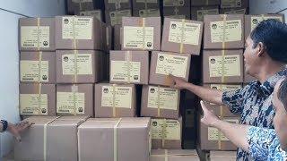 11 Truk Berisi Surat Suara Tiba di KPU Jakarta Utara