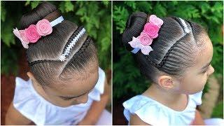 Peinado Infantil Diadema Con Encintado Y Pedreria Peinados Rakel