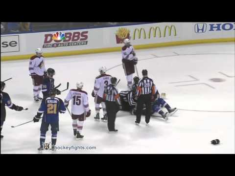 Chris Stewart vs. Rostislav Klesla