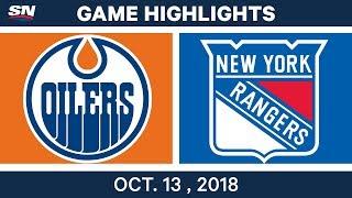 NHL Highlights | Oilers Vs. Rangers - Oct. 13, 2018