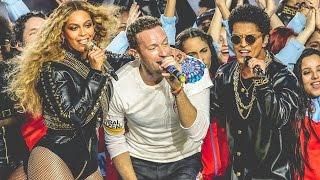 Super Bowl 50 Halftime Show - Ft. Bruno Mars & Beyonce (60FPS)