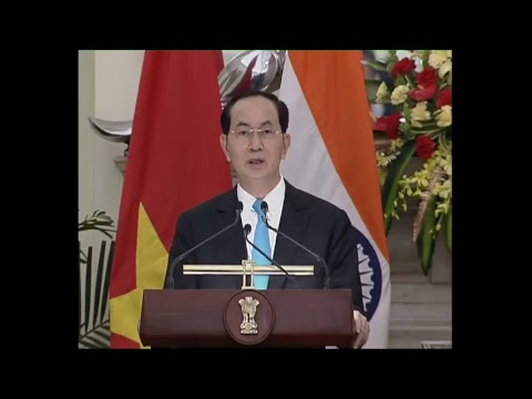 PM Modi at Exchange of Agreement and Press Meet with President of Vietnam