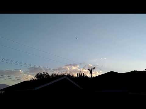 Сферическое НЛО в небе над Калифорнией