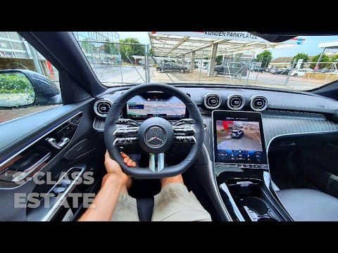 New Mercedes C-Class Estate AMG Line 2022 Test Drive POV ⭐⭐⭐⭐⭐