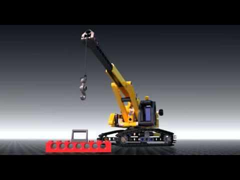 Vidéo LEGO Technic 9391 : La grue sur chenilles