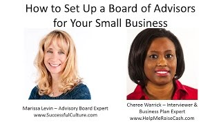 Marissa Levin - Setting Up a Business Board of Advisors